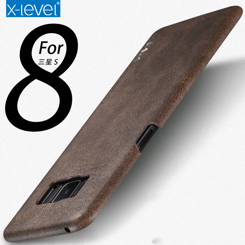 Case For Samsung Galaxy S8 Quality Vintage PU Leather luxury Back Cover Case For Samsung Galaxy S8 Plus Phone Bag Coque Capa