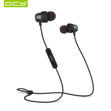 QCY QY20 Bluetooth earphones IPX5-rated sweatproof wireless earphone sport headset with microphone waterproof earbuds(China)