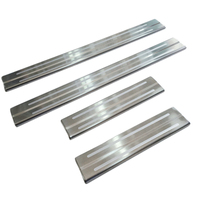 HIGH FLYING Outer Side Door Sill Plate Threshold Cover 4pcs Steel For Toyota Prius PHV For
