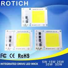 LED COB Lamp Chip 5W 15W 25W 35W 50W 220V Input Smart IC Driver Fit For DIY LED Floodlight Spotlight Cold White Warm White diy lovely spotted dog style 25w 600lm wall decorative light lamp white 220v