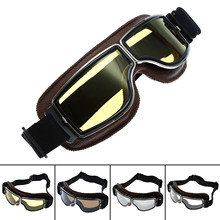 New Motorcycle Motocross Goggles Glasses WWII Vintage for Harley Style Pilot Motorbike Goggles Retro Jet Helmet Eyewear Glasses
