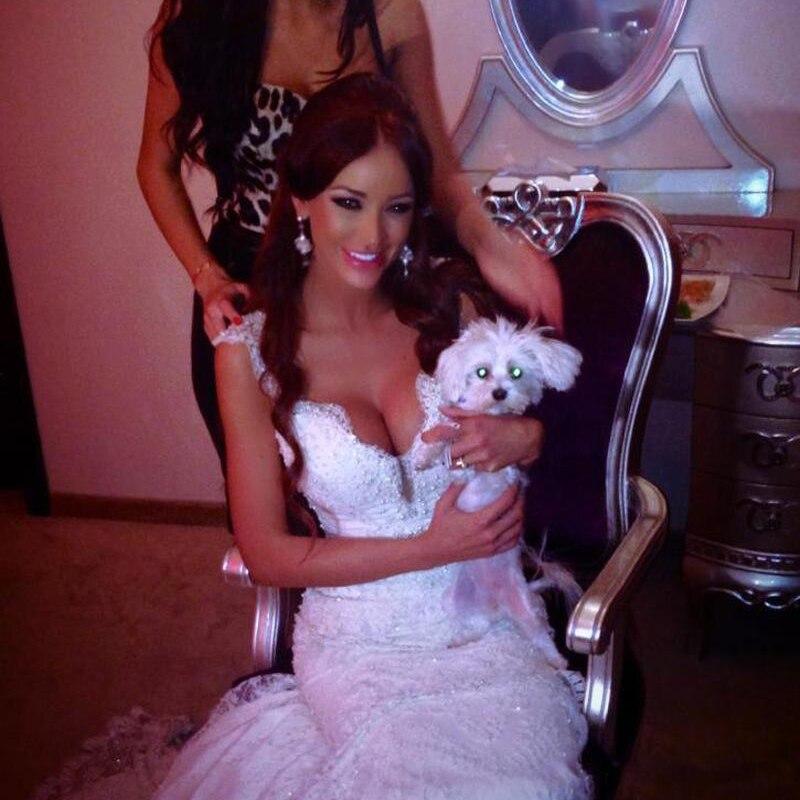 2016 Luxury Boho Wedding Dress High Quality Sexy Low Cut Mermaid ...