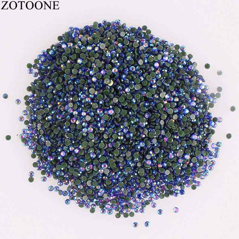 ZOTOONE Resin Rhinestone Non Hotfix Top Glue On Flat Back Rhinestones For  Clothes DIY Applique Stones 0d52bd662bf2