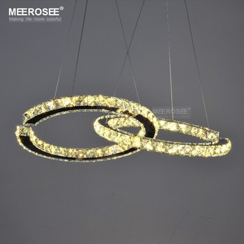 MEEROSEE Iluminación De Cristal Moderna Lámpara Colgante De Diamante LED Accesorio De Cristal LED Lustres Colgantes Gota Abajur Lámpara Para Dini