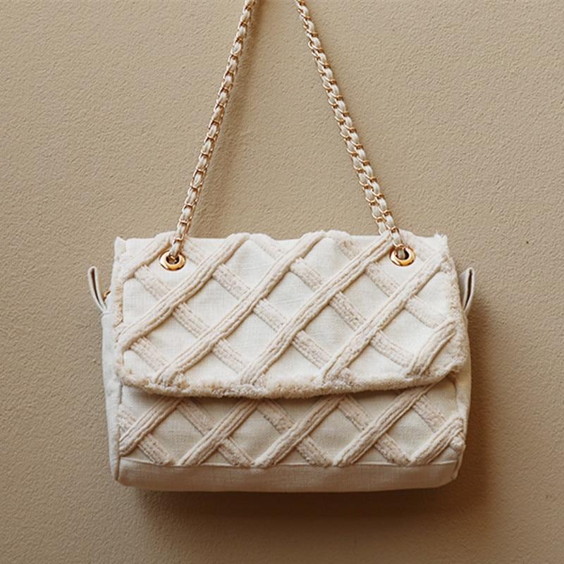 2019 Luxury Diamond Lattice Women Hand Bags Famous Brand Designer Lady Causal Totes Fashion Lace Canvas
