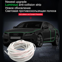 5m Anti Scratch Bar Car Door Edge Rubbing Strip Anti Collision Rubber Bumper Protection Sticker Strip Auto Styling Mouldings car door rubber anti collision scratch proof bar strip 4pcs
