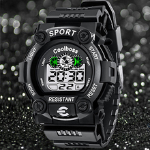Fashion Sport Watch Children Kids Watches For Boys Students Electronic LED Digital Wristwatch Child Clock Teen Hours Hodinky