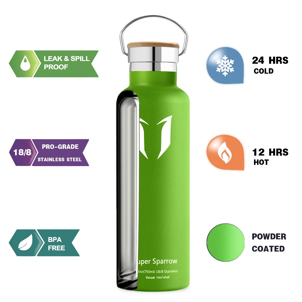 20b14c9a3b Super sparrow stainless steel water bottle vacuum wide mouth thermos  bicycle water bottle drinking water bottle thermos car-in Vacuum Flasks &  Thermoses ...