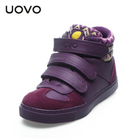 UOVO spring children shoes boys and girls sport shoes 3 hook and loop kids shoes high quality fashion sneakers for kids