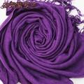 Hot New Purple Acrílico Das Senhoras Cape Clássico Borlas Cachecol Outono inverno Suave Xales Envoltório Cor Sólida Tamanho 180x69 cm JS009