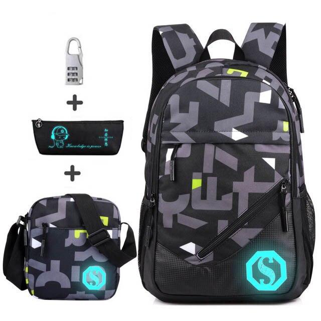 0848dc95ae3a 4 шт. набор анти-вор школьный рюкзак Непромокаемая ткань Оксфорд Мальчики школьные  сумки для девочек Детский рюкзак студенческий детский шк.