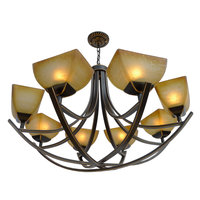 Multiple Chandelier Iron Shipping antique lamp iron Bronze simple pastoral dining room bedroom lamp ZX21