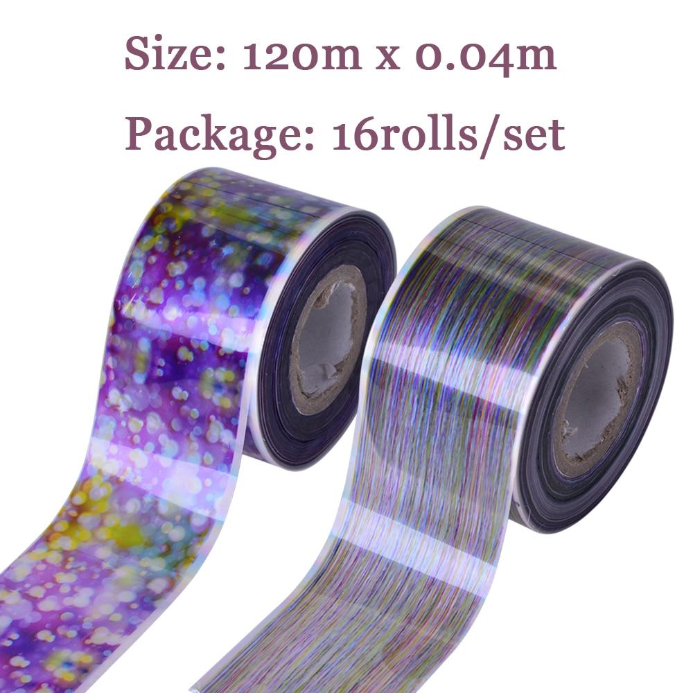 16 Rolls Holographische Blase Folie Gradienten Sternenhimmel Nail ...