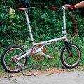 """Fnhon Gust CR MO Stahl Faltrad 16 """"305 mit V Bremse 9 Geschwindigkeit mit 3500 Sora Minivelo Mini velo bike Städtischen Pendler Fahrrad-in Fahrrad aus Sport und Unterhaltung bei"""