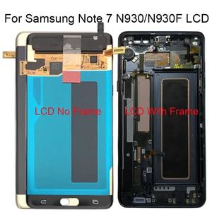 Image 1 - Per la Nota di Samsung Fan Edizione FE Nota 7 N930F N935F Display LCD Touch Screen Digitizer Assembly Per Samsung Note7 LCD di ricambio