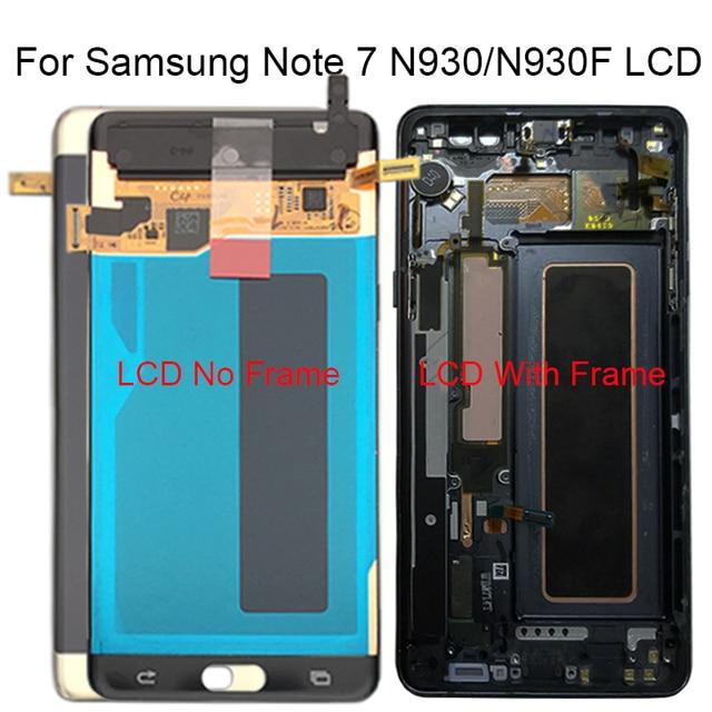 Samsung Not Fan Edition FE Not 7 N930F N935F dokunmatik LCD ekran Ekran Samsung için dijitalleştirici montajı Note7 LCD Değiştirme