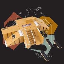 Детский скейт парк частей для палубы гриф технология мини ремесло палец скейтборд парки конечной здание головоломка блок игрушка