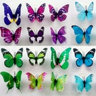 Free delivery Colorful Fairy Butterfly On Stick Ornament Home Garden Vase Lawn Craft Decor