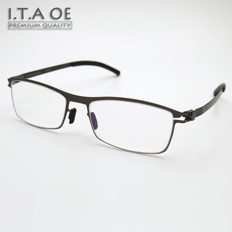 Eyeglass Frames No Screws : ITAOE DAVID Full Rim Fashion Style No Screws Stainless ...