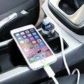 Автомобильное Зарядное Устройство 5 В 3.1A Быстрая Зарядка Dual USB Порт СВЕТОДИОДНЫЕ дисплей Прикуривателя Телефон Адаптер Напряжения Автомобиля Диагностический Для Hyundai KIA