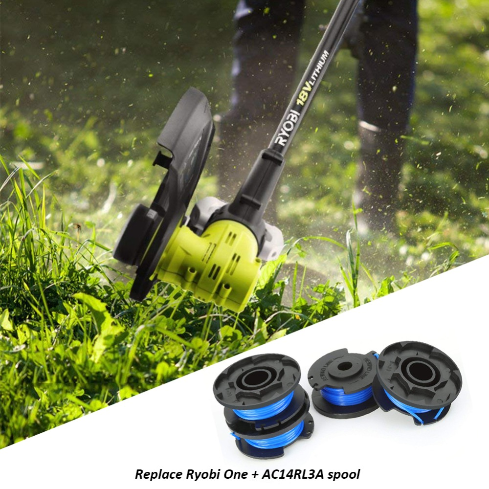 US $1 89 24% OFF 4/6 PCS Auto Feed Line String Trimmer Rope Replacement  Spools For Grass Cutter Ryobi One+AC14RL3A Lawn Mower Accessories-in Tool