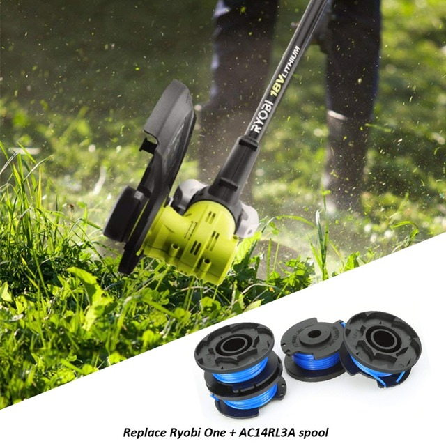 4/6 PCS Auto Feed Line String Trimmer Rope Replacement Spools For Grass Cutter Ryobi One+AC14RL3A Lawn Mower Accessories