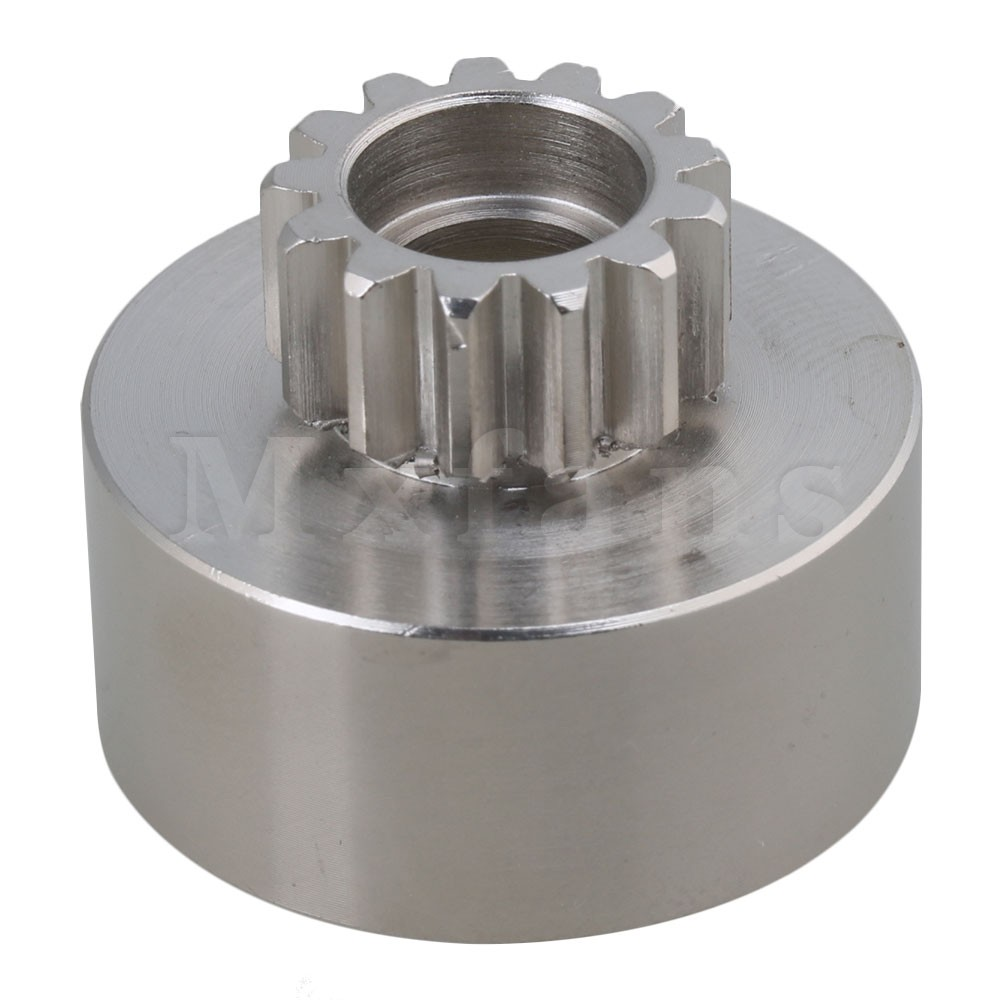 Mxfans Silver Steel Upgrade Parts D10025 <font><b>13</b></font> Teeth Single Clutch Bell Gear for RC 1:<font><b>8</b></font> 1:10 Rock Crawler Car image