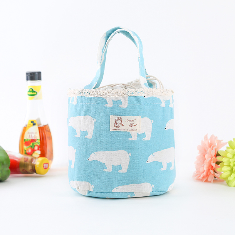 Fresh Portable Thermal Lunch Bag For Women Kid Tnsulated Tote Cooler  Food Picnic  Lunch Box Bags Case