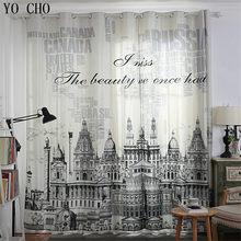0514d26c342a4 YO CHO Europeu retro castelo hotel cortinas blackout cortinas de janela de  luxo de alta qualidade popular decoração janela da pr.