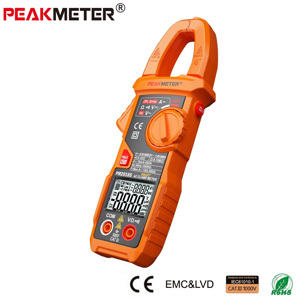 PM2018S Portable Smart AC Digital Clamp Meter Multimeter