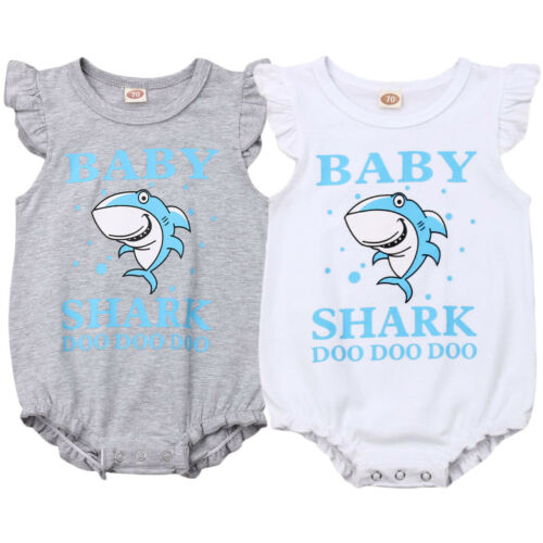 USA Newborn Baby Boy Girl Cartoon Romper Bodysuit Summer Sunsuit Clothes Outfits