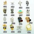 5pcs 3D DIY Shiny Metallic Rhinestones Crystal nail stickers Nail Art Studs Decor