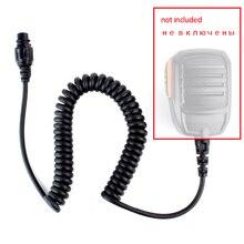 Yedek DIY SM16A1 için MIC mikrofon hoparlör kablosu 10 pins Hyteranın HYT MD780 MD780G MT680 vb araba radyo