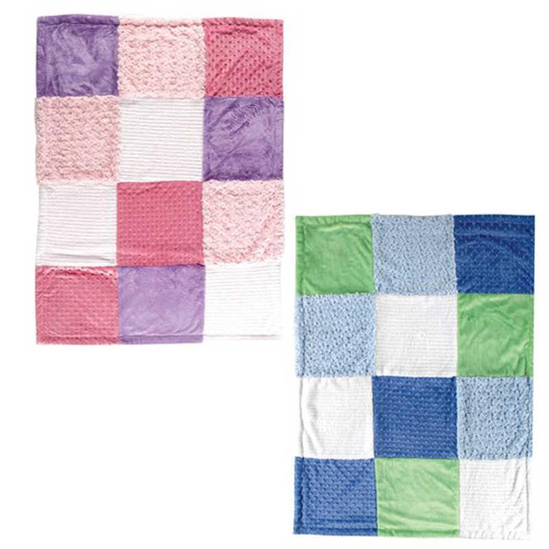 Luvable Friends очень мягкий флис одеяло для новорожденного Multi-Fabric12 панели Манта младенческой ребенок продукт ребенок постельные принадлежности зима