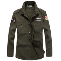 High Quality Brand Men Uniform U S Military Shirts 100 Cotton Long Sleeve Casual Shirts Army