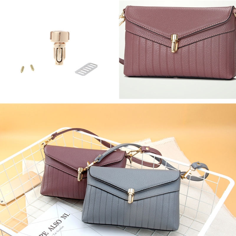 4 Colors  Durable Metal Clasp Turn Lock Twist Lock For DIY Handbag Bag Purse Hardware 1 Pc