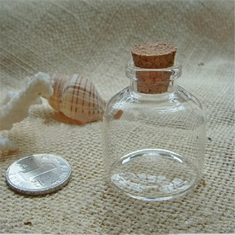12pcs Factory Wholesale very cute Glass vials 20ml Bottles Small with Corks 37x40x12.5mm Free shipping