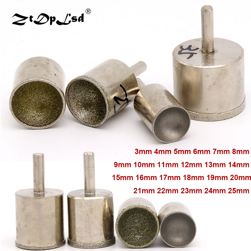 1Pc 6mm Shank Diamond Grinding Head Mounted Points Spherical Concave Jade Carving Burrs For Rotary Tool Fine Rough Sand Polisher
