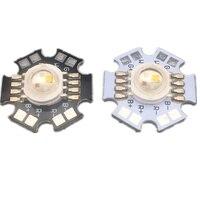 20pcs 4W RGBW or RGBWW LED Diode High Power LED Emitter Chip Bead 8pins four color led chip Epistar 45Mil on 20mm Star PCB Base