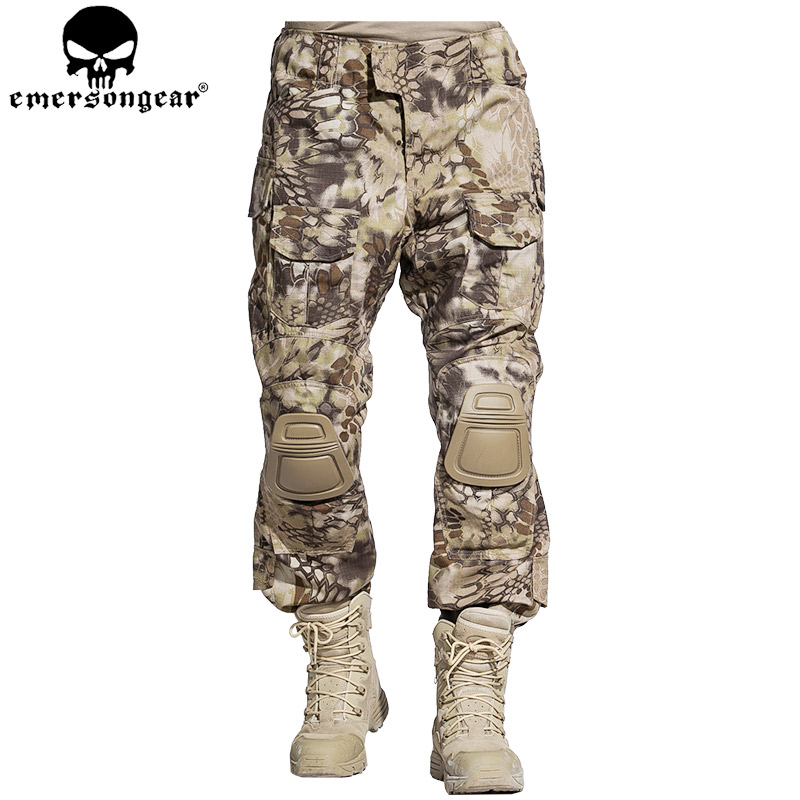EMERSONGEAR G3 Combat Pants BDU Army Airsoft Paintball Hunting Trousers Tactical Pants Highlander EM7047 emersongear g3 combat pants with knee pads military bdu army airsoft emerson gear paintball hunting trousers em7046 mandrake
