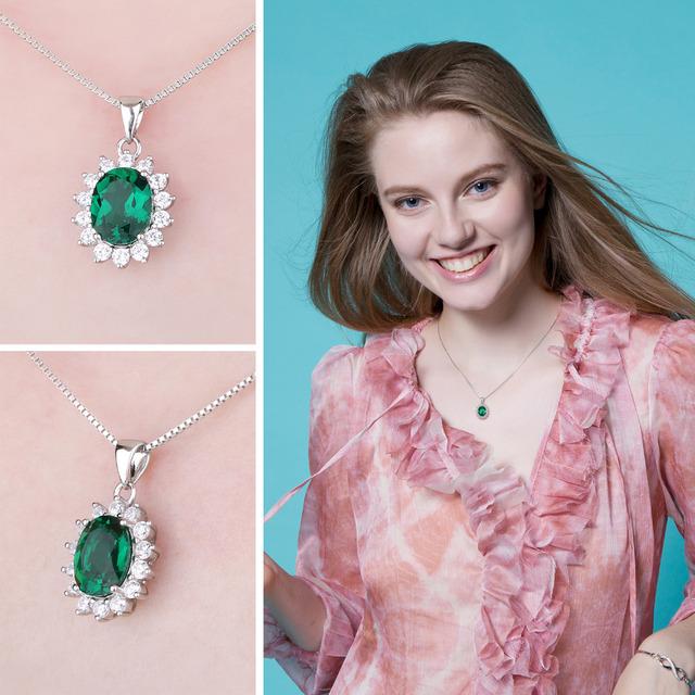 Kate Middleton's Created Emerald Pendant