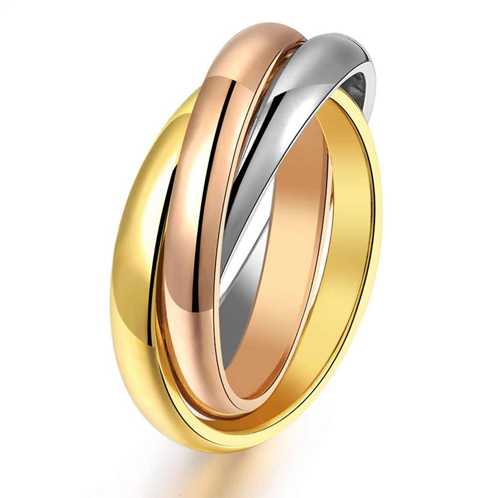 popular tricolor gold rings buy cheap tricolor gold rings