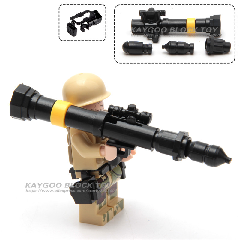 City Police Military Swat Gun Weapons Pack Army soldiers Figure with Weapon building blocks  Batman Best Children Gift Toy 1