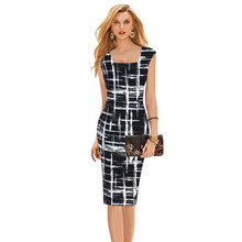 S-XL High Street Fashion Bohemian Dress Clothing Sleeveless office Vintage Cocktail Party Dresses Summer Women Knee Length Dress