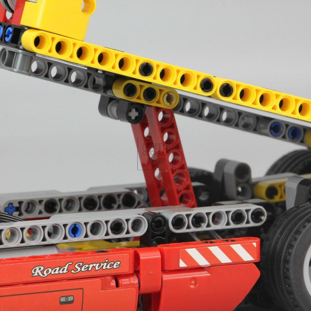 Technic Series 1143 pièces blocs de construction jouets pour enfants à plat camion briques jouet cadeaux Compatible Legoe Technic 8109 - 4