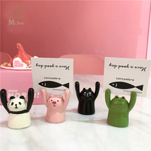 Creative Pig Panda Cat Frog Shape Photo Clip Card Holder Kawaii Message Office School Home Desk Decoration