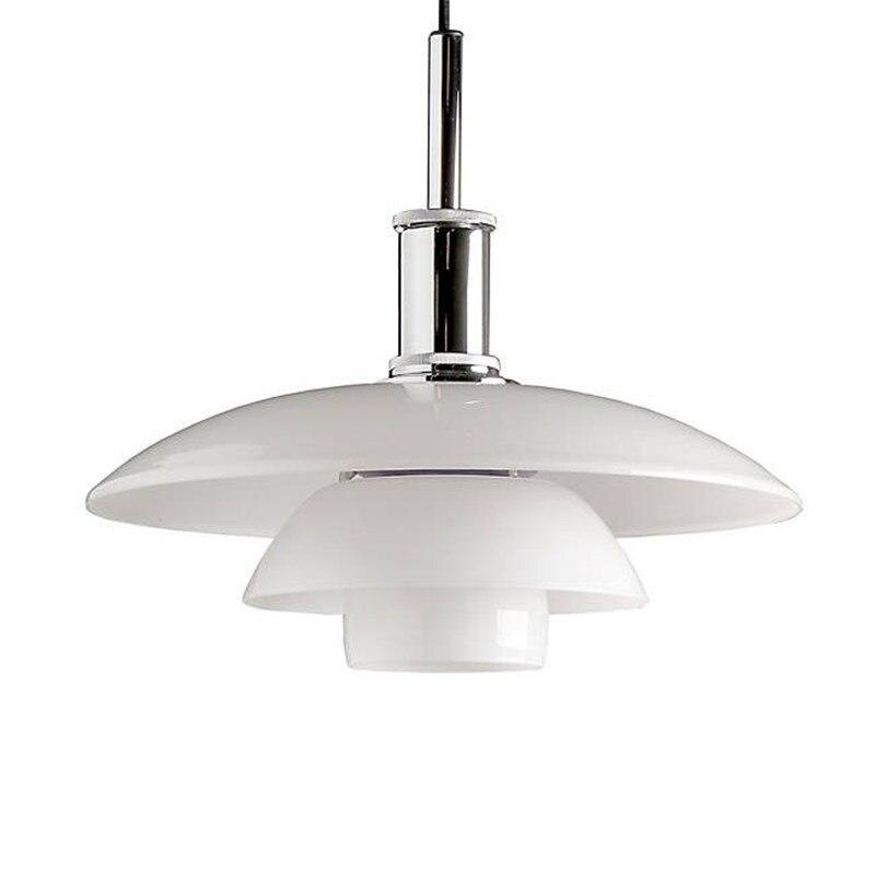 bianco vetro lampade a sospensione singola testa di sospensione paralume della lampada mushroom per cucina camera