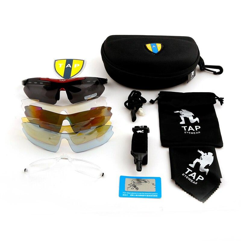TAP מותג ספורט טקטי אופני משקפיים משקפי מגן לגברים משקפי מגן 5 משקפי שמש משקפי מגן משקפי שמש משקפי שמש משקפי שמש Oculos זכר