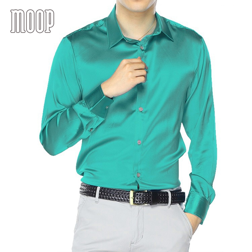 الأزرق الأخضر الوردي الرجال الطبيعي الحرير قمصان طويلة الأكمام قميص رسمي للأعمال رخيصة قميص homm camiseta الغمد vetement أوم LT1499-في قمصان كاجوال من ملابس الرجال على  مجموعة 2