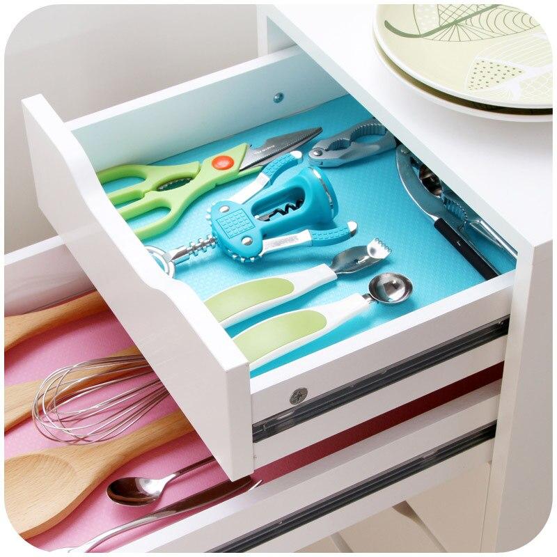 Waterproof Mildew Proof Cabinet Shelf Liners Wardrobe ...
